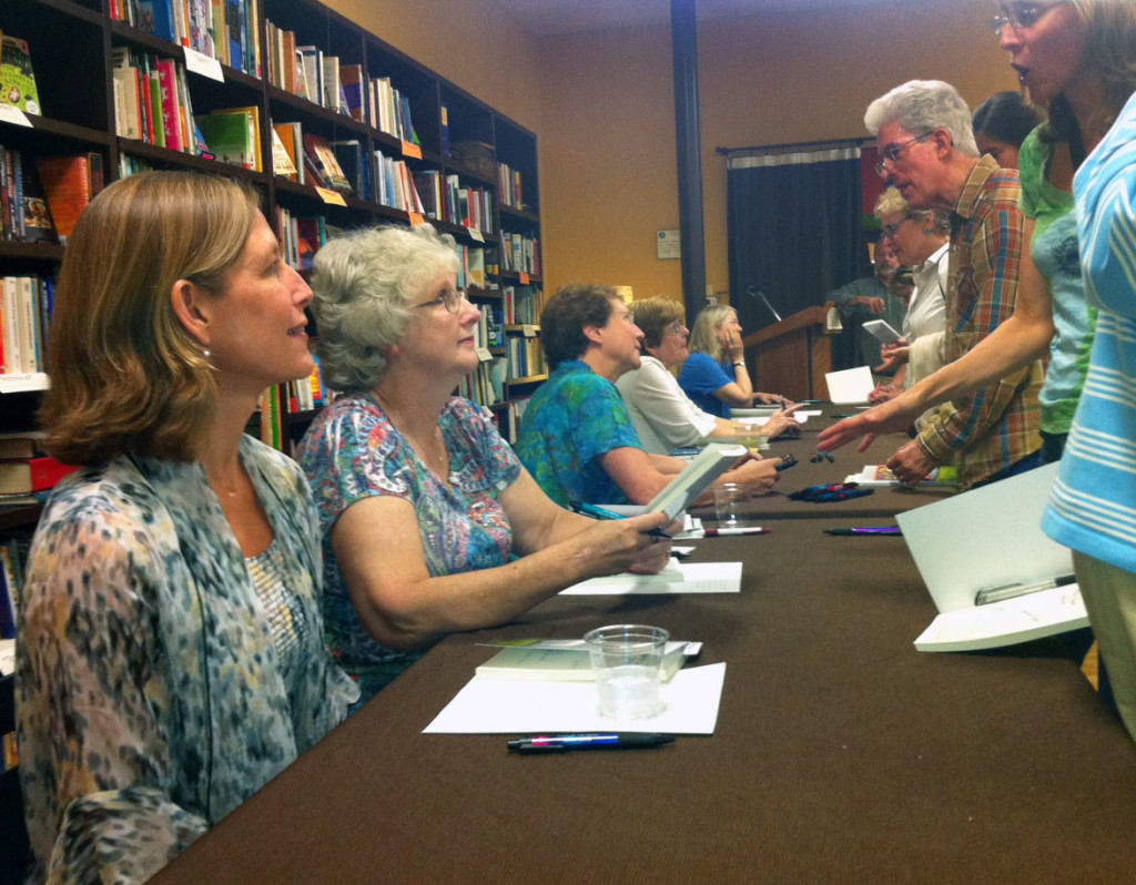 Some of the authors at Flyleaf Book reading and signing