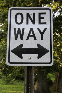 istock One Way Sign
